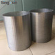 welded stainless steel johnson water well continuous wedge wire mesh screen filter pipe