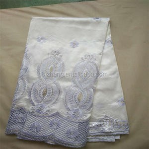 white embroidery george wrappers lace fabric