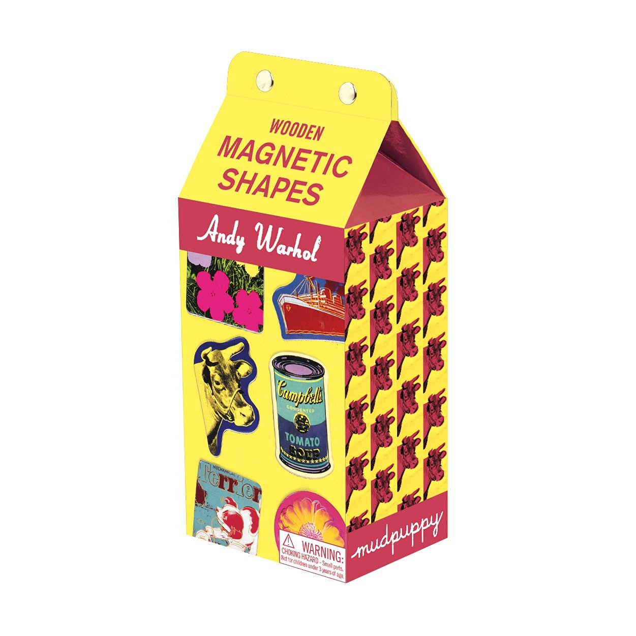 Mudpuppy Andy Warhol Wooden Magnetic Shapes