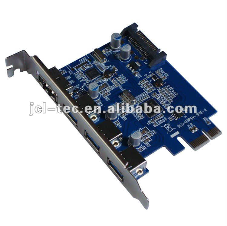 Pci Express Pci-e To Usb 3.0 Hub 3port+power Esata Converter ...