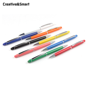 Best eco-friendly advertising touch screen stylus touch slim roller metal twist ballpoint pen