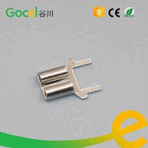6.3mm Pcb terminal connector,brass battery terminal manufacturers DJ620-C6.3