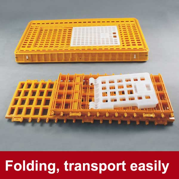 Sample free collapsible broiler chicken transportation crate for poultry farm