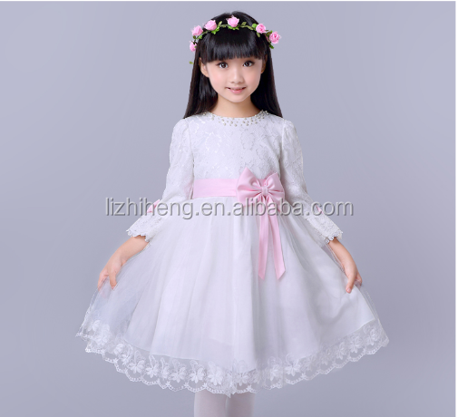 2016 Girls Evening Dresses lace girl wendding dress spring Child Fashion Party Dress