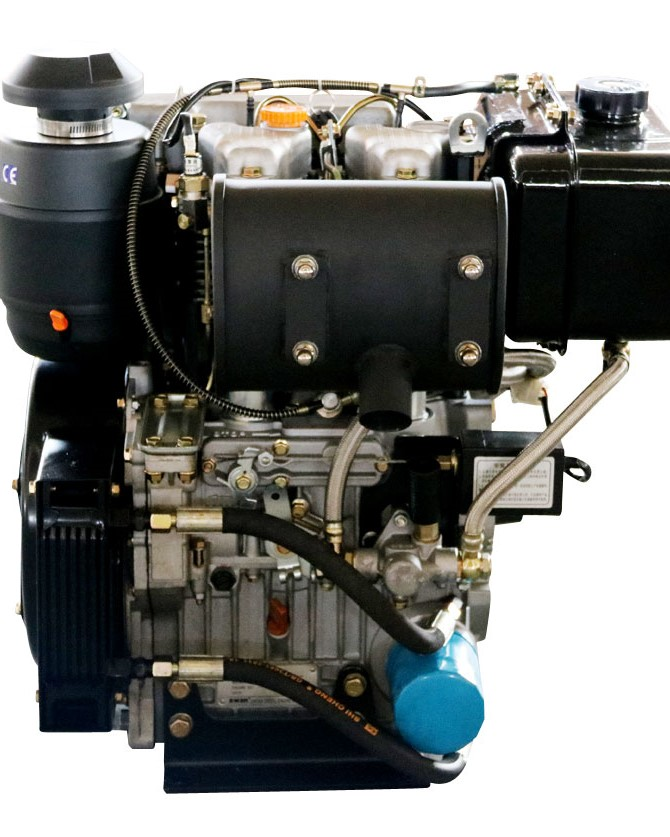22HP Two cylinder Small air cooled marine diesel engine for sale
