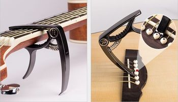 2016 new guitar capo guitar capo tuners built in guitar tuner for acoustic guitar and electric