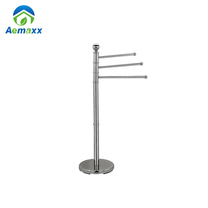 Stainless steel expandable towel rack hotel style towel rack