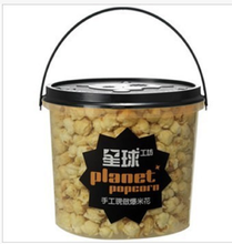 Großhandel 5L transparent PP kunststoff popcorn eimer <span class=keywords><strong>mit</strong></span> <span class=keywords><strong>deckel</strong></span> und griff in china