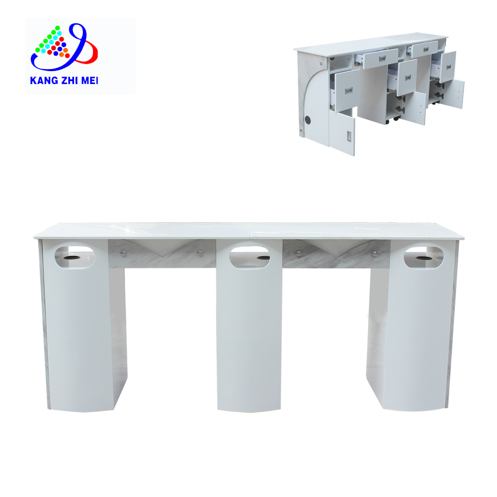 Dust Collector With Ventilation Design Bar Art Vacuum Cheap Portable Double Manicure Nail Table For Sale