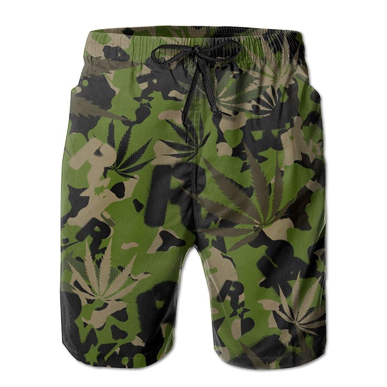 2dd722fa3321b Get Quotations · Cjhxqt Camouflage Mens Boardshorts Swim Trunks Quick-Drying  Basketball Shorts Mens Swim Trunks