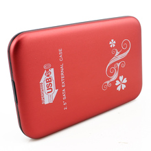 Red USB 3.0 Aluminum External Hard Drive Disk Case HDD Externo Disco Box HD Disk Storage Devices for Laptop Desktop Computer