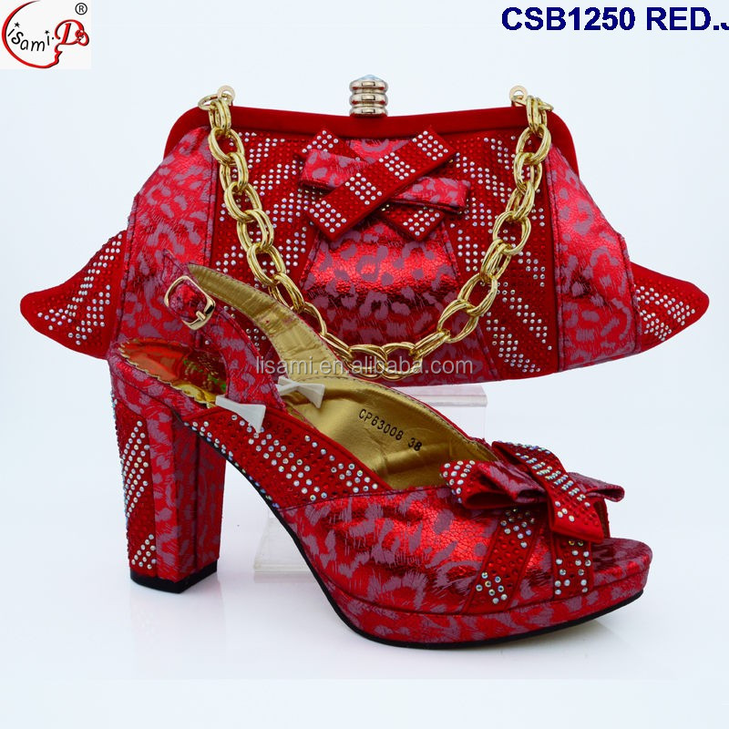and shoes High bag for quality women CSB1250 good price party nigeria set xYBn7q0wqa