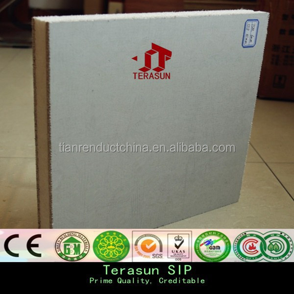 Lightweight fiber cement thermal insulation eps cement sandwich wall panel
