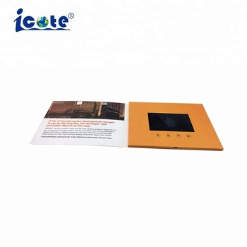 2018 gifts lcd video brochure card for christmas gifts