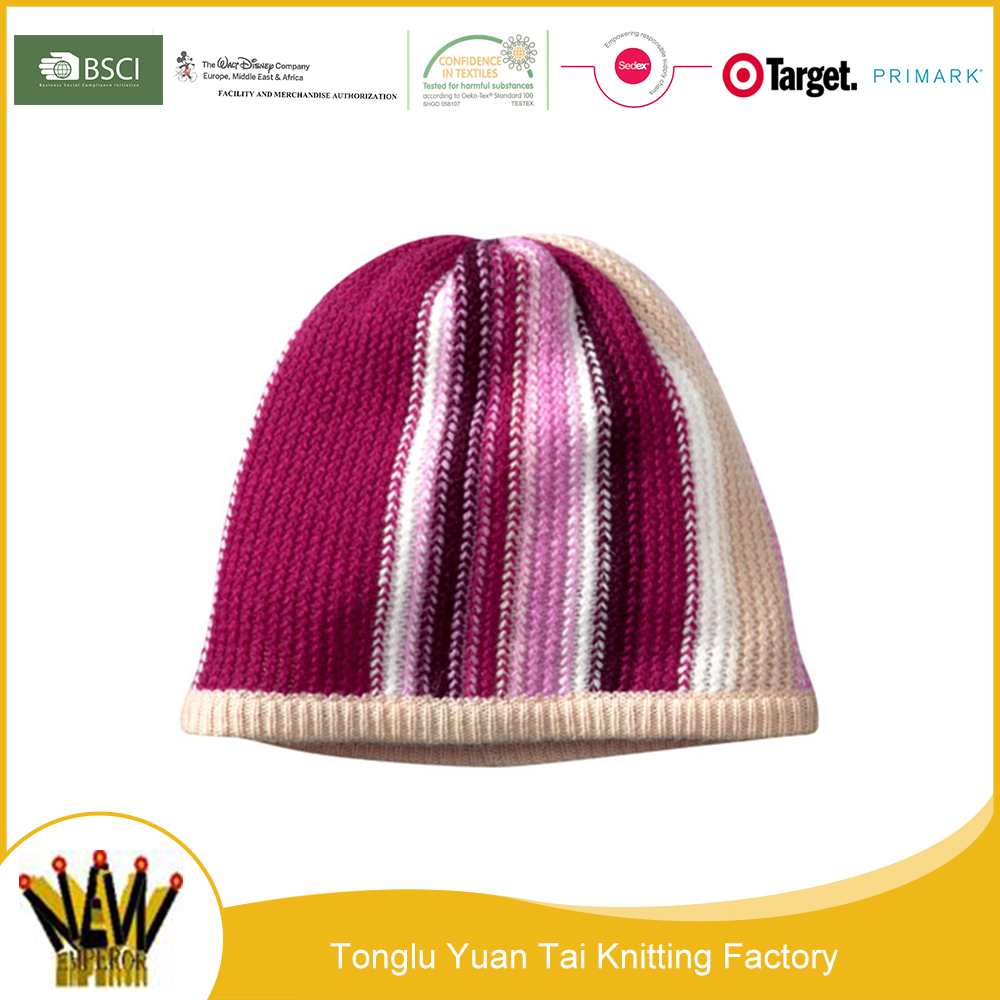 Best selling kids knitted hat plain beanie with custom tags