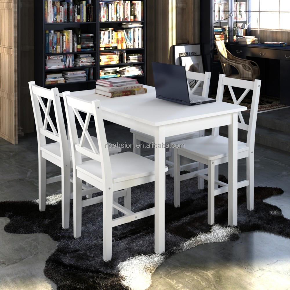 Dining room furniture sets simple design indoor pine wood dining table set