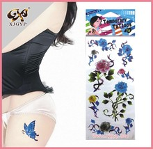 Wholesale self adhesive body skin tattoo sticker and sexy makeup for women