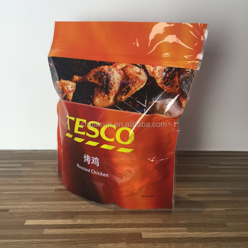 Stand up zipper bags for cooking chicken