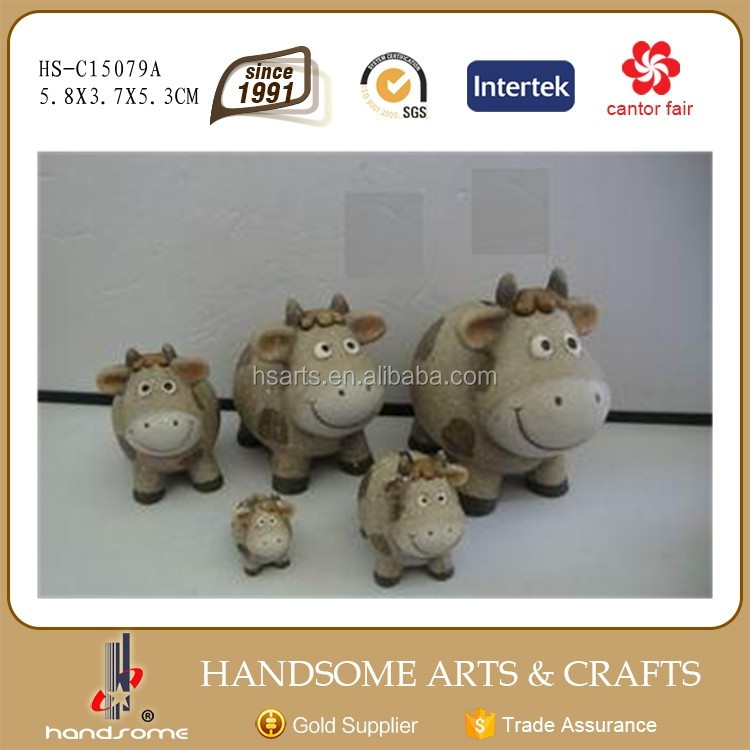 6.2 Inch Ceramic Cow Crafts Home Decoration Money Bank