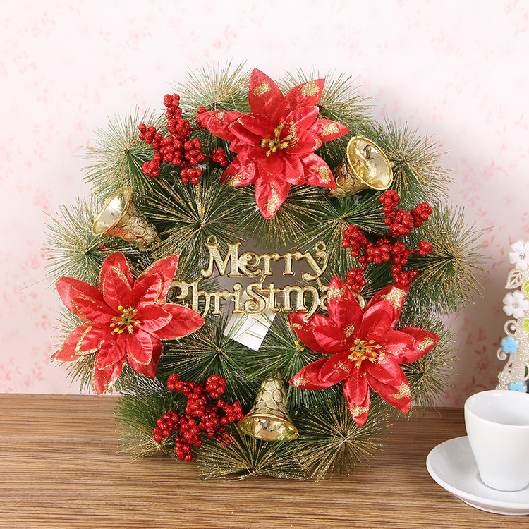 Wholesale <strong>Christmas</strong> 30cm wreath decoration artificial pine wreaths