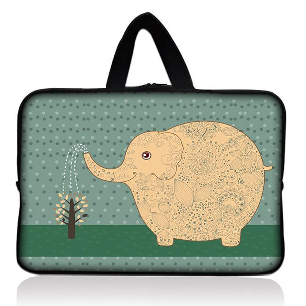 "Elephant Universal 7"" 7.7"" 8"" Carrying Bag Case Cover Bag Sleeve + Handle for 7"" Samsung Galaxy Tab 2 Tab 3, Ipad Mini,Amazon 2 3 4 Kindle Fire, Touch, Fire HD,Asus Google Nexus 7,LeapFrog LeapPad 2,Asus Memo Pad ME172V,BlackBerry PlayBook,HP Slate 7,Kurio 7,Barnes & Noble NOOK Color,Pendo Pad 7"""