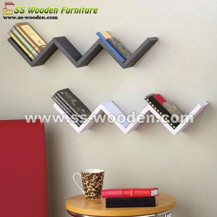 etagere murale zig. Black Bedroom Furniture Sets. Home Design Ideas
