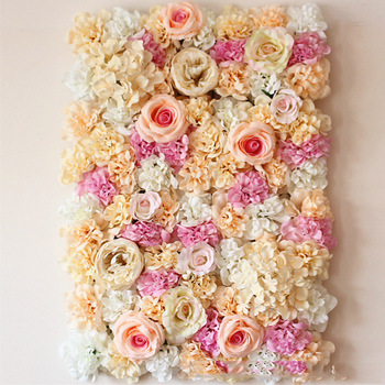 Champagne And Light Pink Rose Flower Designing Wall Tiles For Wedding Backdrop Design Product On