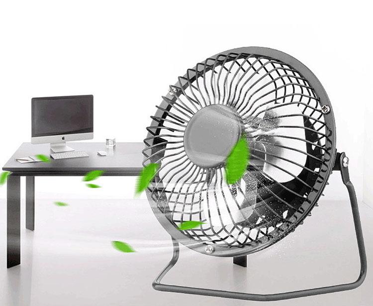 Ventilador Portátil USB Metal Fan Ordenador PC Enfriador Aire