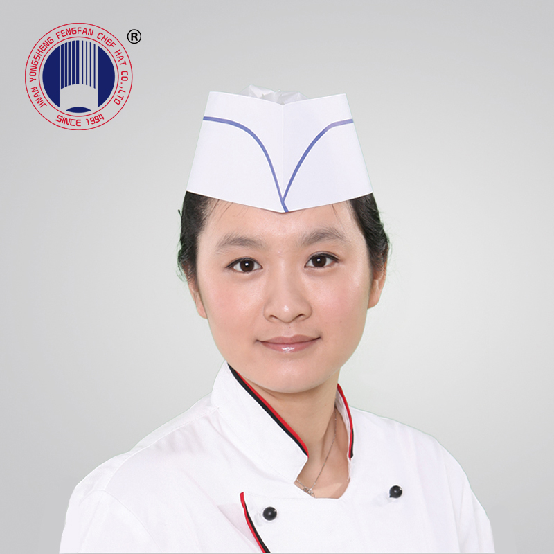 Chinese Manufacture Custom Disposable Paper Forage Hat Chef Hat Hot Sale
