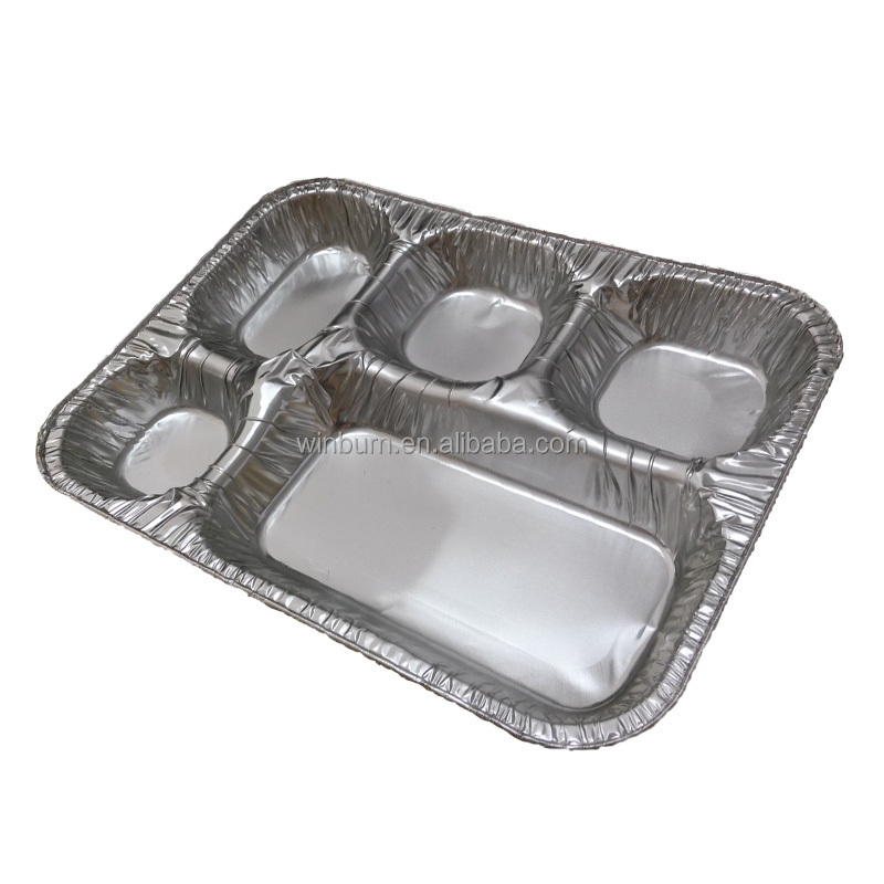 Xinxiang Winburn's New Product--Aluminum Foil Packing Tray with 5 Compartments