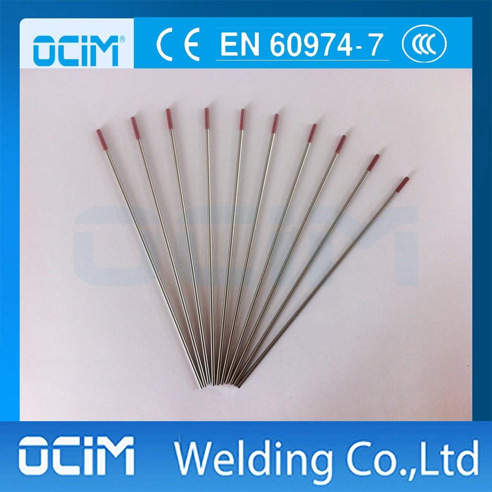 WT20 rouge /Électrodes en tungst/ène TG TG TG Thorium Tungst/ène Thorium 2/% 3,2 mm x 150 mm lot de 10 pi/èces.