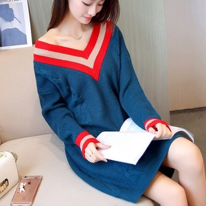 New designs cheap women long classy sweater dress