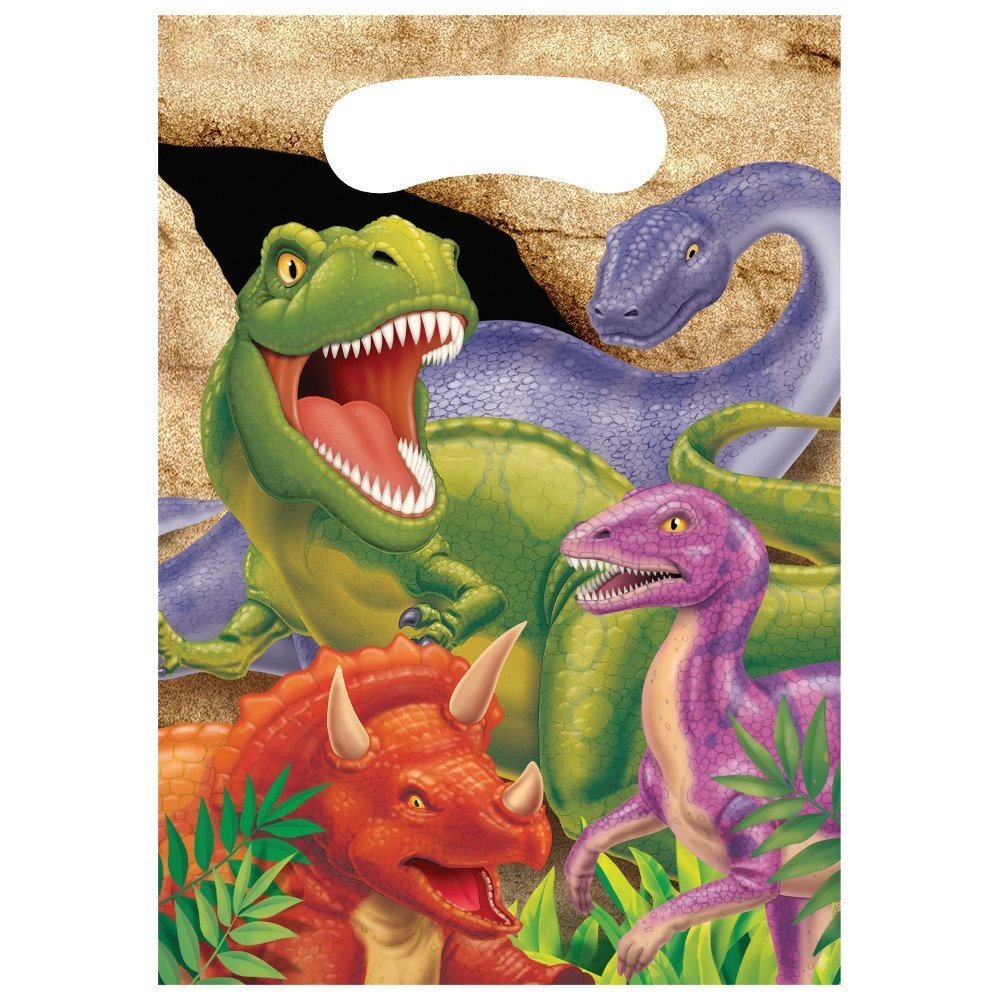 Creative Converting Dino Blast 24 Count Party Favor Loot Bags (Value Pack)
