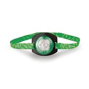 Life Gear National Geographic Green Kids Headlamp, High, Low, Red Glow & Red Flasher Modes - Batteries Included, Adjustable strap by Life Gear