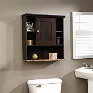 Wood Wall Cabinet, Adjustable Shelf Behind The Door, Cubbies, Storage Space, Display Surface, Reversible Door, Ideal For Kitchen, Bathroom, Family Room, Bedroom, Home Office, Furniture, Brown Color