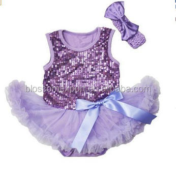 bb888ec13615 Wholesale toddler clothing USA apparel Baby sequin Rompers sleeveless purple  cotton tutu skirted girl body suits