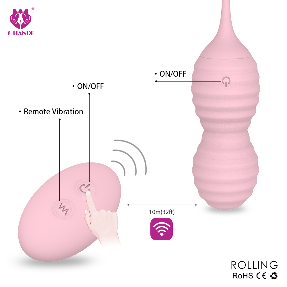 Ladies use Double 2 in 1 sex toys free samples vibrating kegel balls love egg vibrator for women