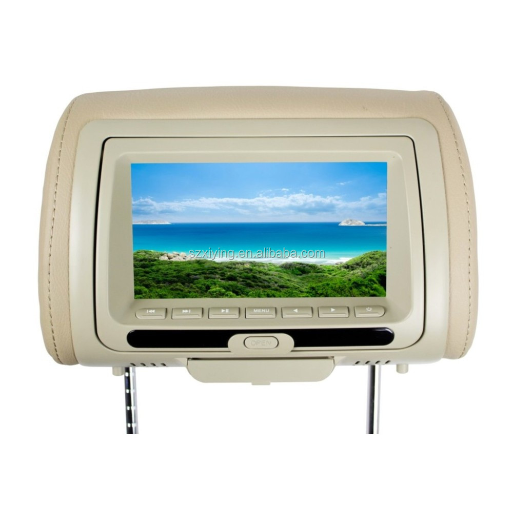 "in car lcd 7"" car pillow headrest monitor dvd player(XD783)"