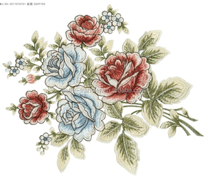 embroidery pattern water transfer decals for furniture