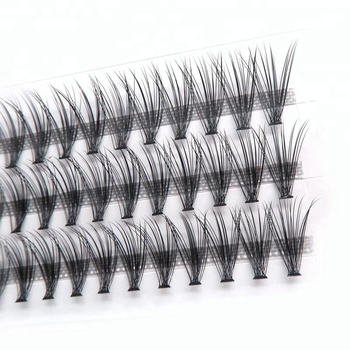 31656e0bdb9 Pre-Made Fan Light Soft Volume lash Extension cluster 10D 20D Pre Fanned  Volume Eyelash