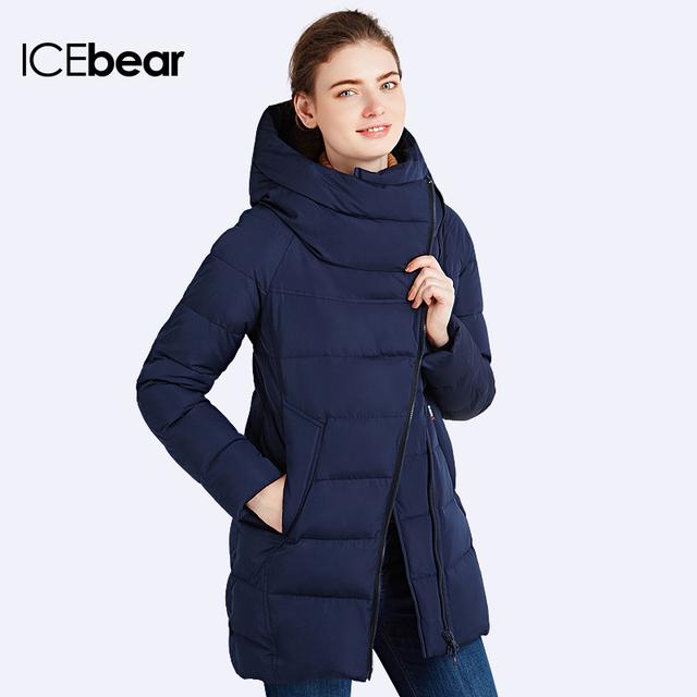 938f8398340 ICEbear 2016 Много Цветов Зимняя Куртка Женщин Новый Модный Бренд Теплый  Толстый Широкий талией Верхняя Одежда