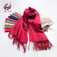 Various Color Super Soft Woven Wholesale Scarves With Long Tassel