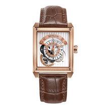 Автоматические Мужские часы Rolexable с полым циферблатом и ремешком из телячьей кожи прямоугольные водонепроницаемые устойчивые к царапинам ...(Китай)