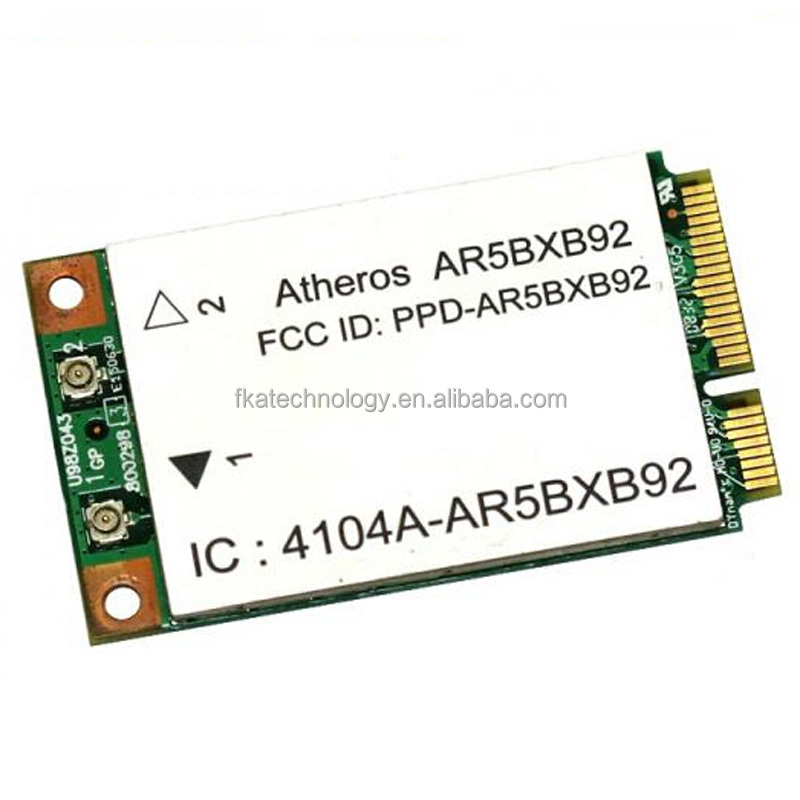 Atheros AR5BXB92 Wirless Wifi Card Mini Pci-E Wlan Card 802.11a/b/g/n 300M 2.4Ghz & 5Ghz dual band Wifi Card
