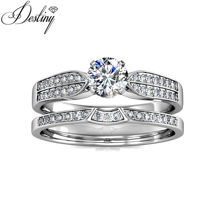 291ea1020 Destiny jewellery fashion wedding rings engagement rings hot sales  Embellished made with crystals from Swarovski