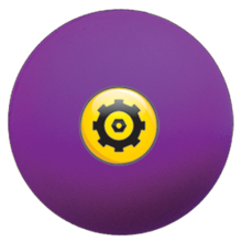 Purple pu foam stress ball