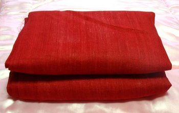 Pure Thai Raw Silk Fabric Dark Red