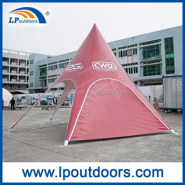 Dia8m Outdoor red bull spider beach shade star tent for event