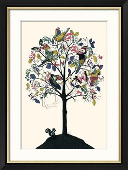 Spring Tree Birds And Butterfly Painting Buy Butterfly And Flower Painting Chinese Bird And Flower Painting Bird Wall Painting Product On