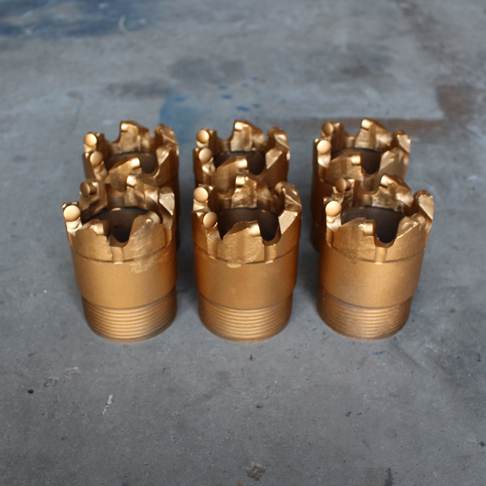 API&ISO high quality longer drilling intervals hard rock diamond PDC Core drill bit for construction geological drilling